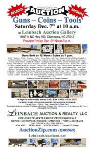 Leinbach flier auction 120719
